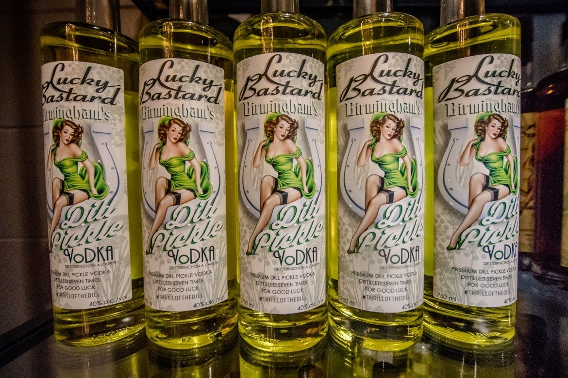 Lucky Bastard Distillery dill pickle vodka