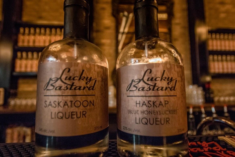 Lucky Bastard Distillery liquers