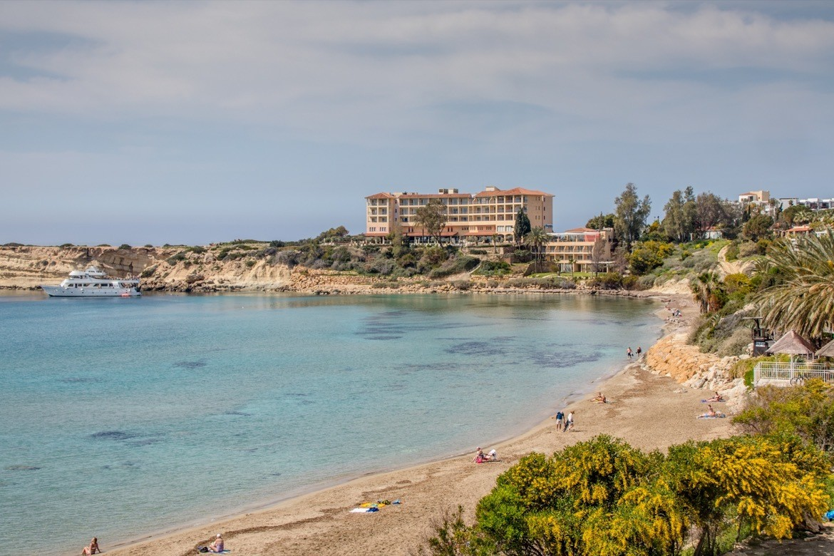 Coral Bay near Paphos is one of the best places to visit in Cyprus