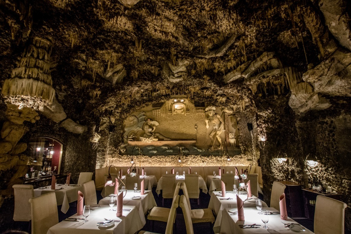 Visiting a cave restaurant is one of the quirky and fun things to in Prague