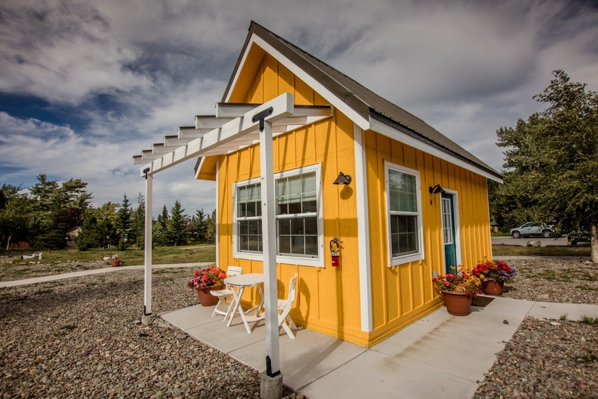 St. Mary tiny homes in Glacier National Park, Montana