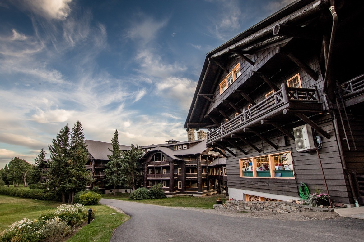 Glacier Park Lodge, East Glacier National Park, Montana, USA