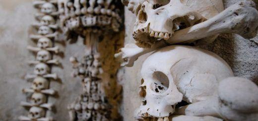 Sedlec Ossuary, the Bone Church in Kutna Hora, Czech Republic,