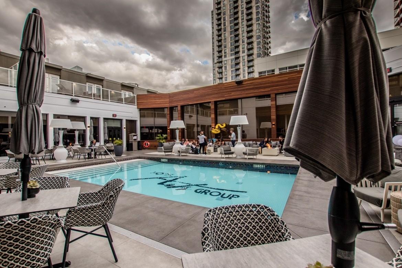 The pool at Hotel Arts Calgary
