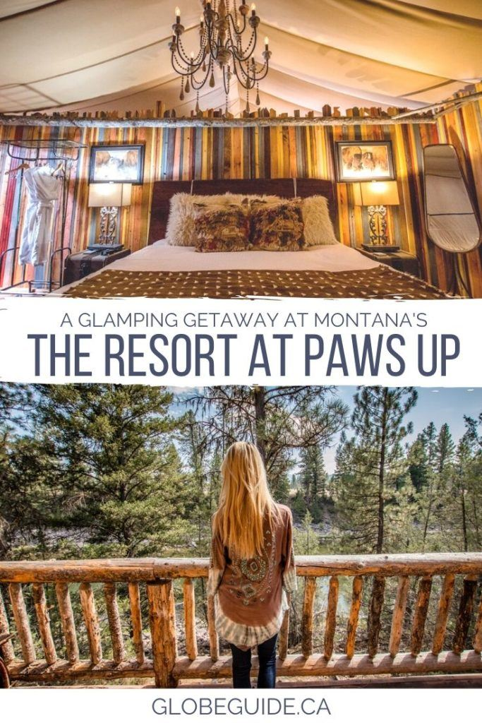 A glamping getaway at Montana's Resort at Paws Up