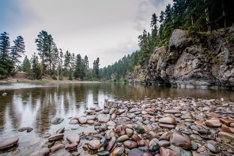 The Blackfoot River at The Resort at Paws Up