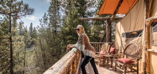 Montana glamping at The Resort at Paws Up