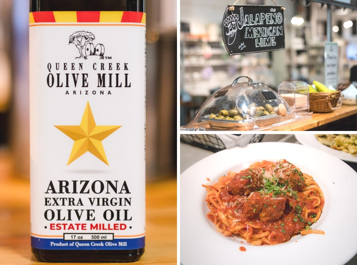 The delicious menu items at Queen Creek Olive Mill