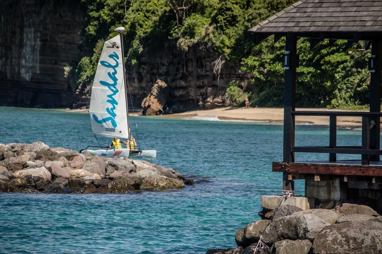 A hobicat at Sandals Grenada
