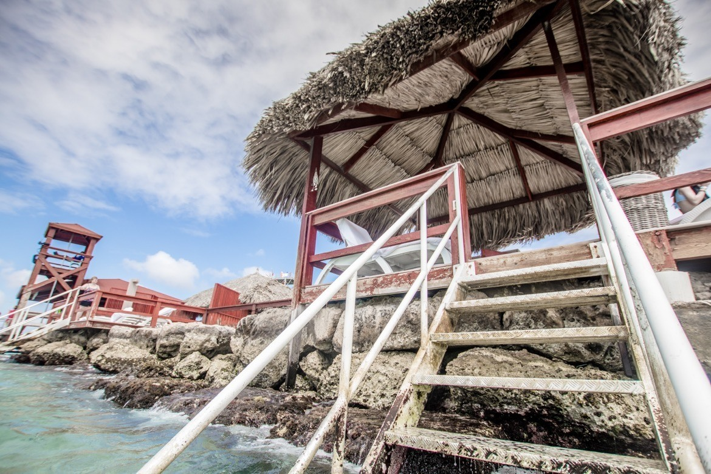A private cabana on De Palm Island