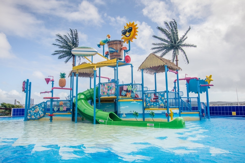 The kids water park on De Palm Island, Aruba