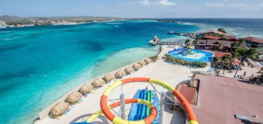 The waterslide on De Palm Island, Aruba