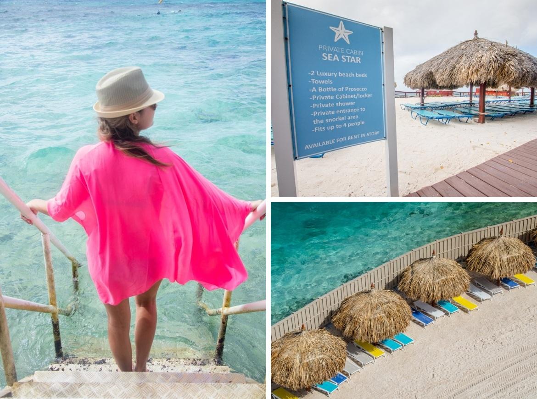 Private cabanas on De Palm Island, Aruba