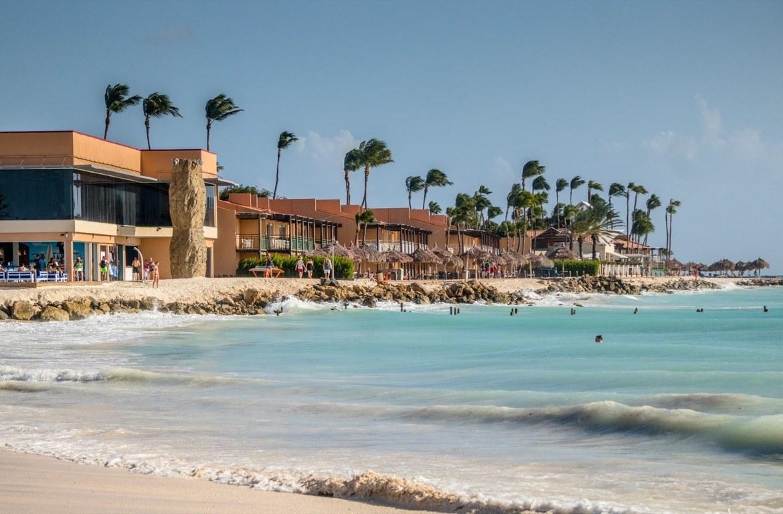 Divi Tamarijn and Beach Bar along Druif Beach in Aruba