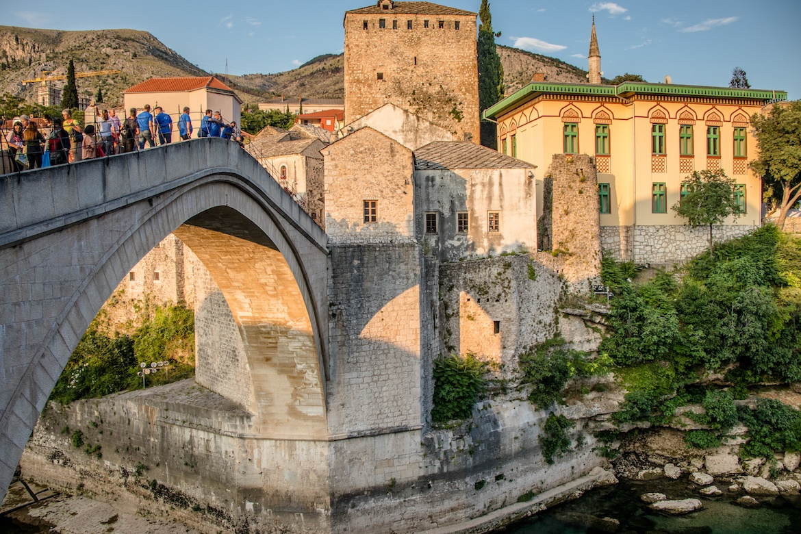 The old town in Mostar, Bosnia