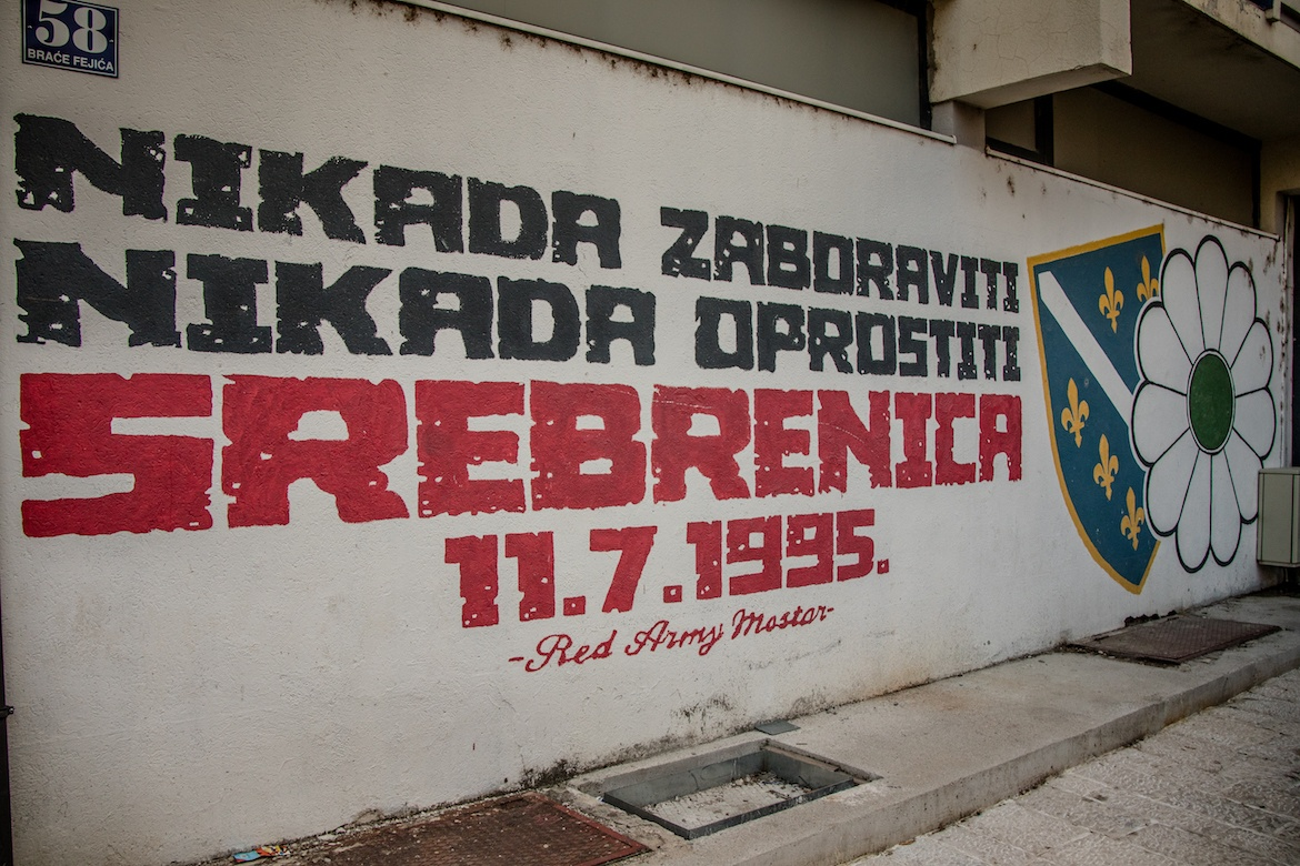 A sign from the war in Mostar, Bosnia
