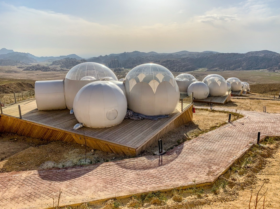 A bubble dome hotel in Petra, Jordan