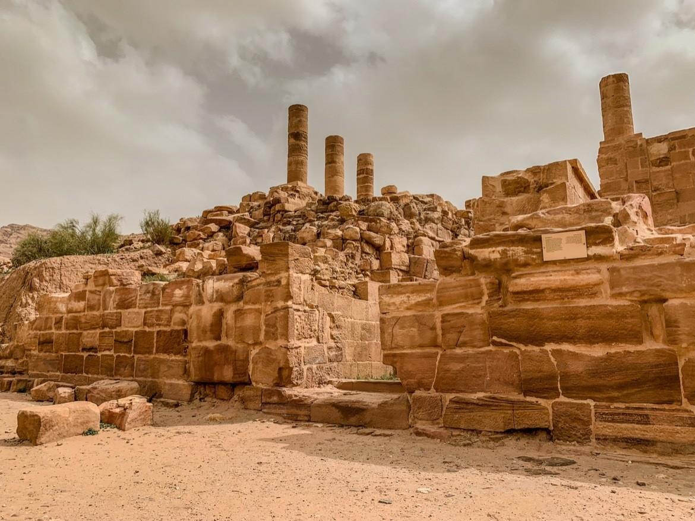 Ancient ruins seen while visiting Petra Jordan