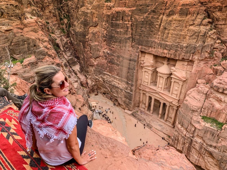 A viewpoint of The Treasury in Petra, Jordan