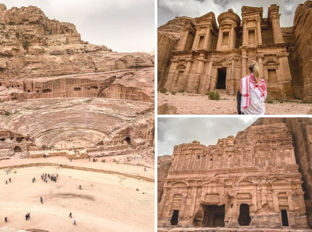 A tour visiting Petra, Jordan