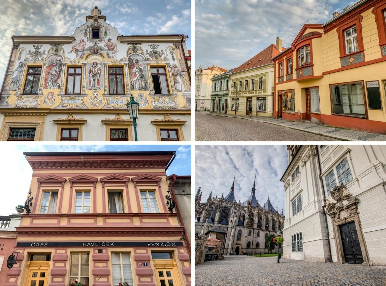 The streets in Kutna Hora, Czech Republic