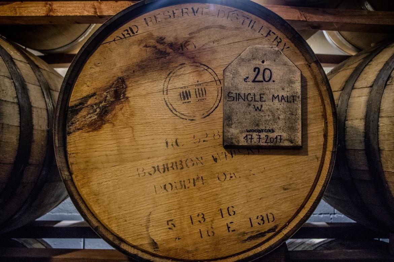 A whiskey barrel inside the Svachovka Distillery