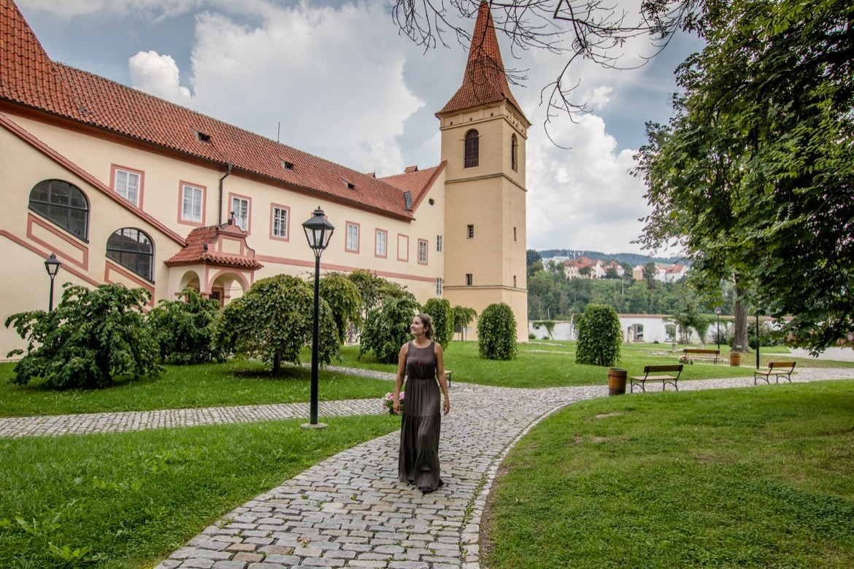The monastery in Cesky Krumlov