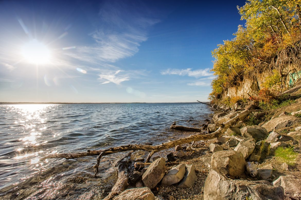 Sylvan Lake is one of the best day trips from Calgary