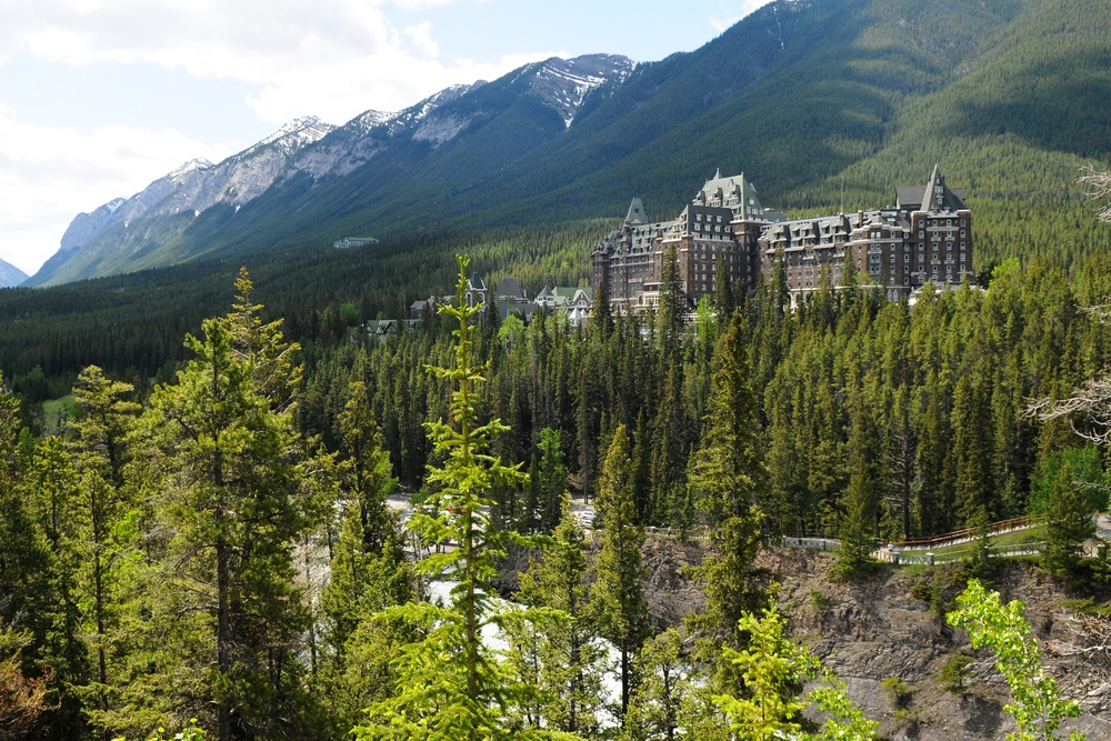 The Banff Springs Hotel, seen from Surprise Corner