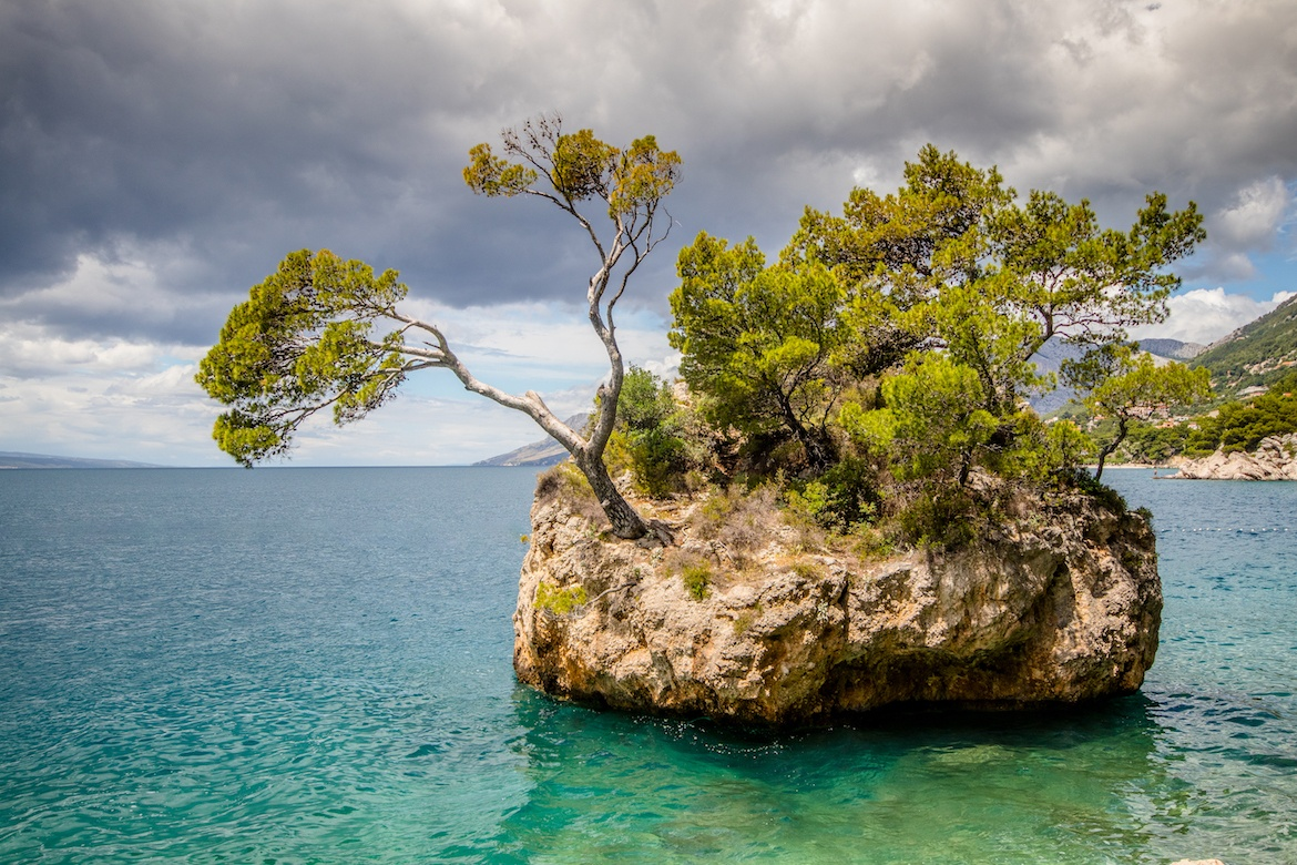 The Brela Stone in the Makarska Riviera, Croatia