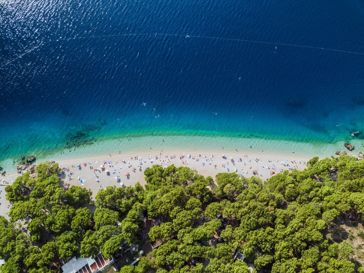 Punta Rata beach in Croatia