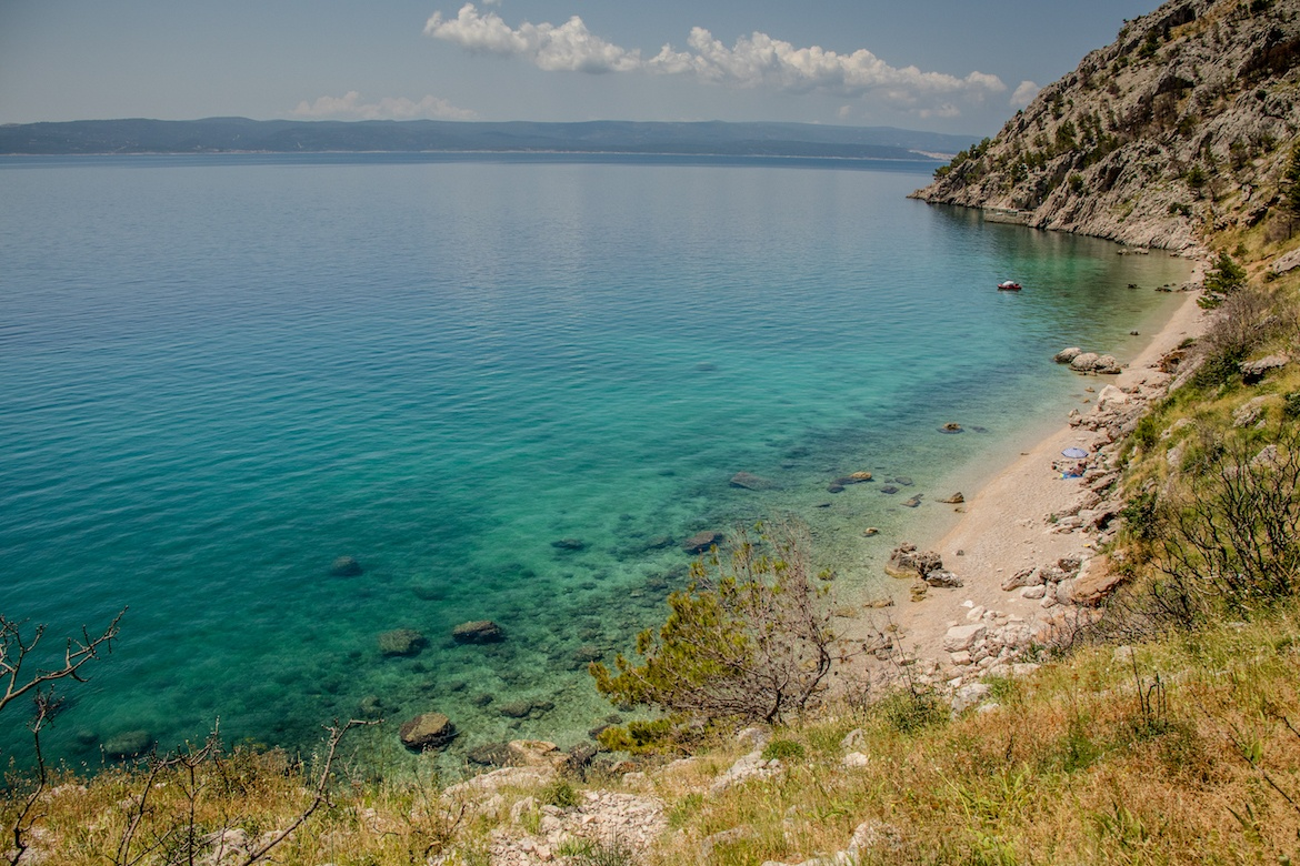 Vrulja Beach in the Makarska Riviera, Croatia