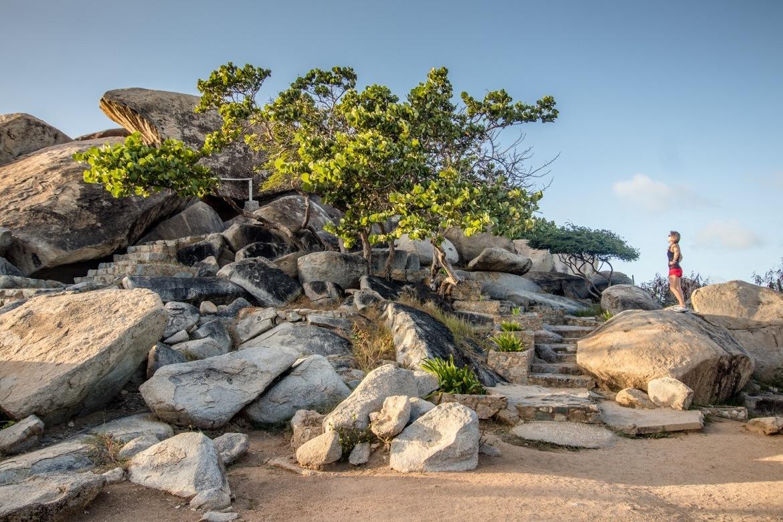 The Casibari Rocks in Aruba