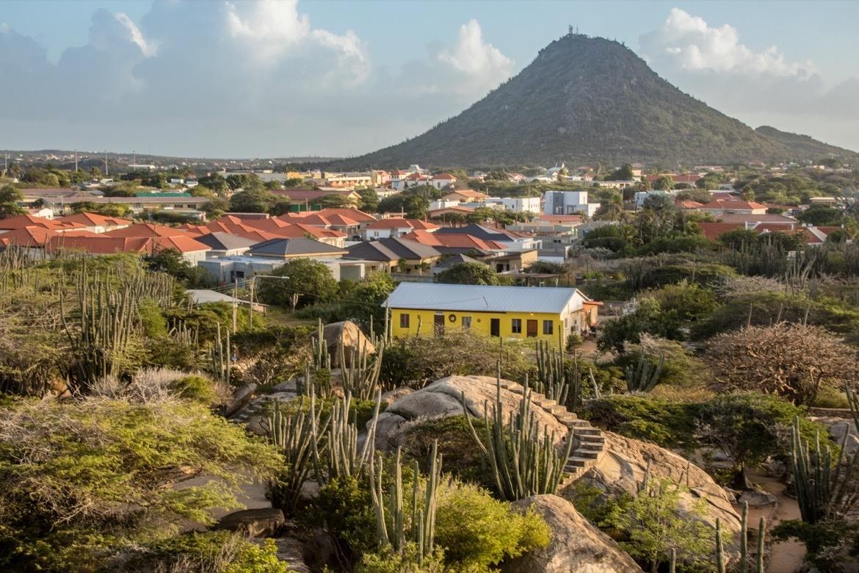 The view from the Casibari Rocks in Aruba