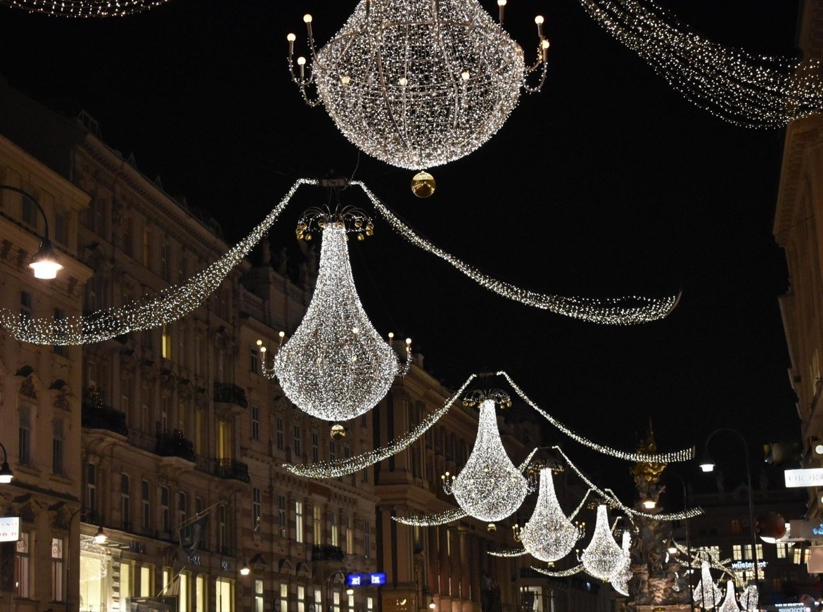 Visiting the Christmas market is one of the best things to do in Vienna, Austria