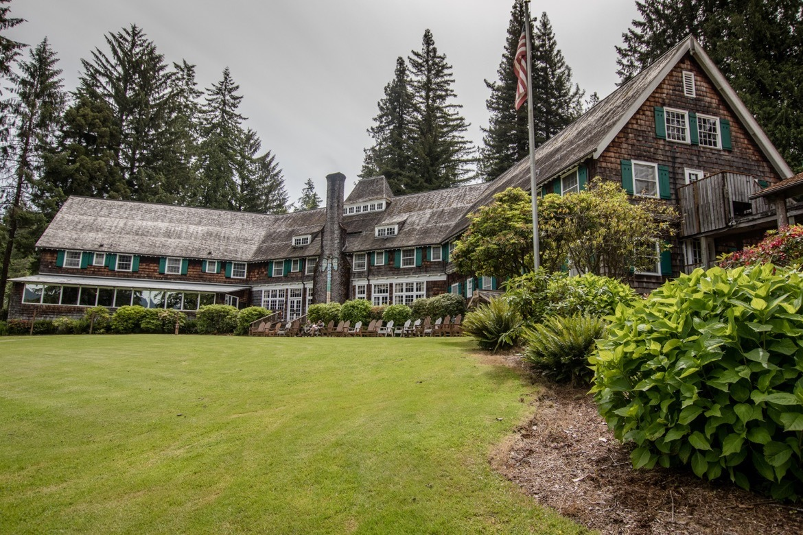 The historic Lake Quinault Lodge in Olympic National Park