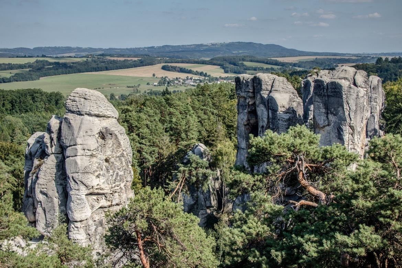 the Hrubá Skála Rock Town (Hruboskalsko) in Cesky Raj, the Bohemian Paradise