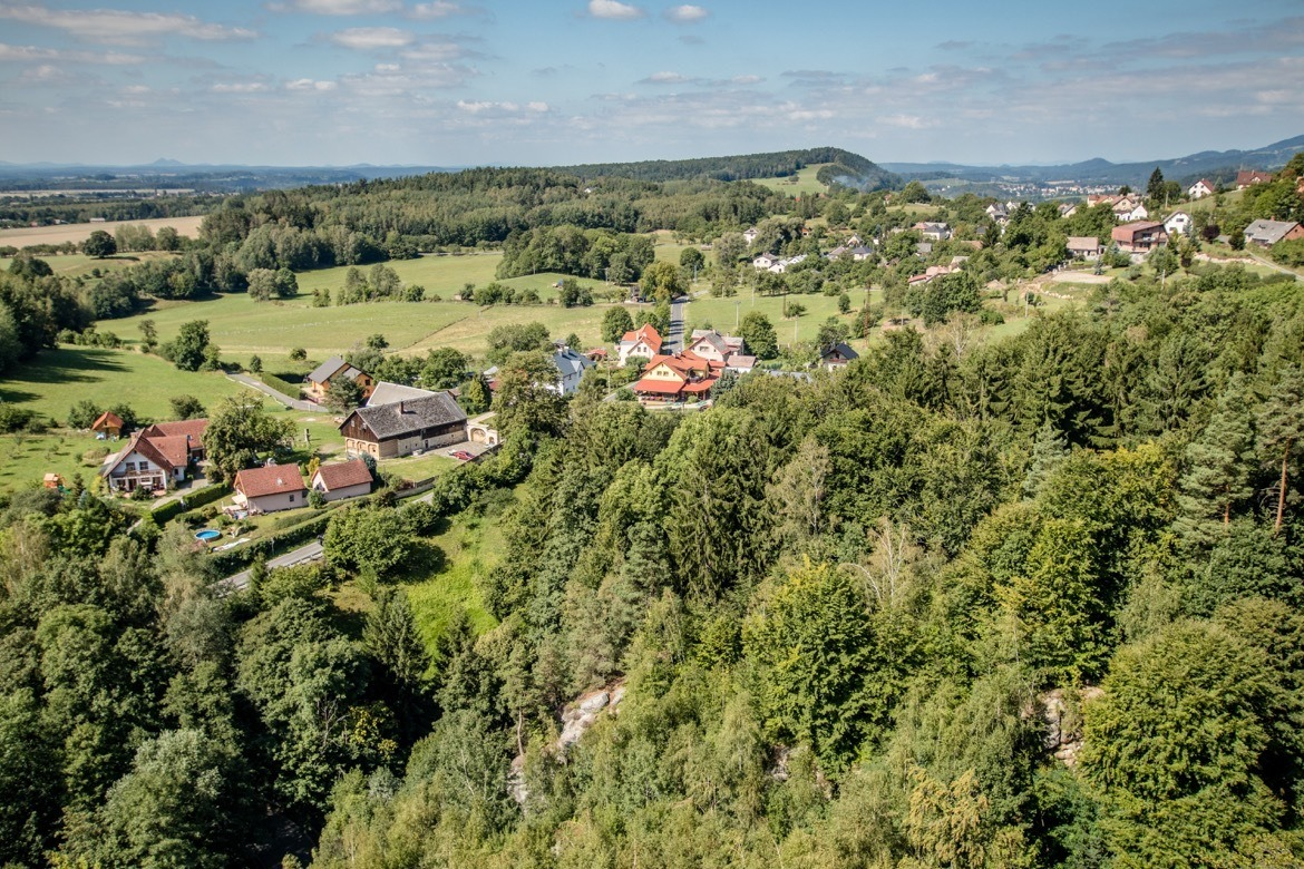 The view from Frýdštejn castle in Cesky Raj, the Bohemian Paradise