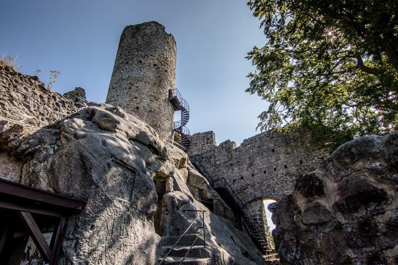 Frýdštejn castle in Cesky Raj, the Bohemian Paradise