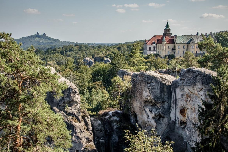 Hrubá Skála castle in Cesky Raj, the Bohemian Paradise