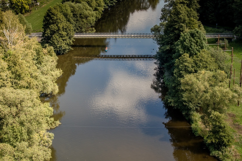 The Jizera River in Cesky Raj, the Bohemian Paradise