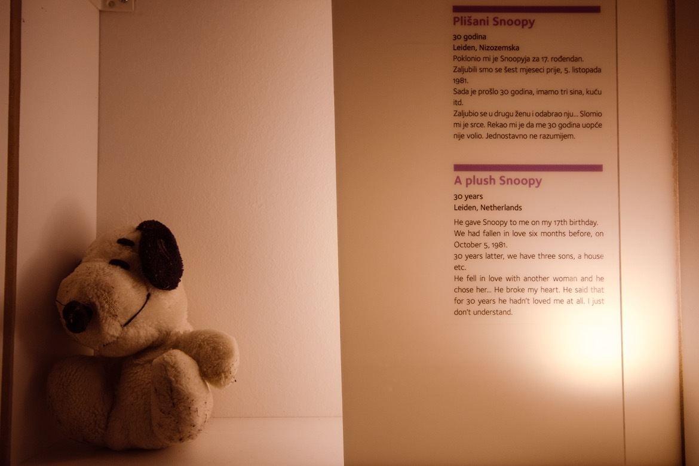 Museum of Broken Relationships in Zagreb, Croatia