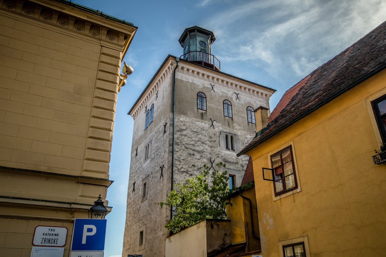 Lotrščak Tower in Zagreb Croatia