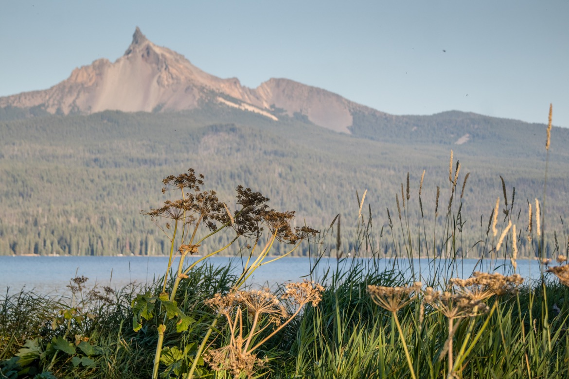 Mt Thielsen View campground near Crater Lake