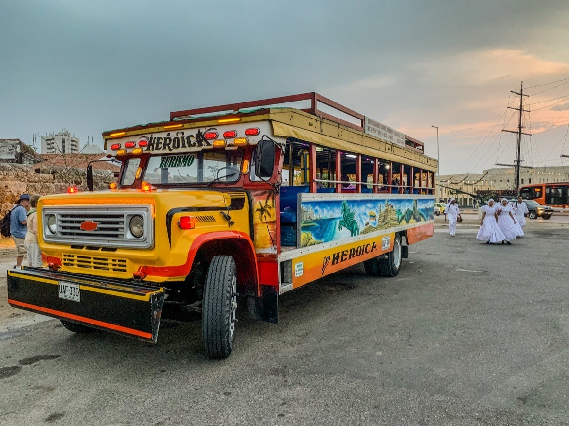 Riding a chiva bus is one of the best things to do in Cartagena