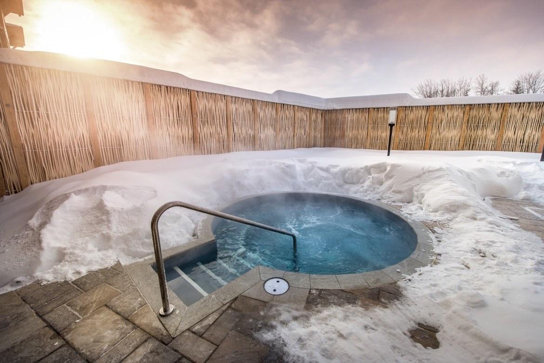 The spa at Village Vacances Valcartier near Quebec City