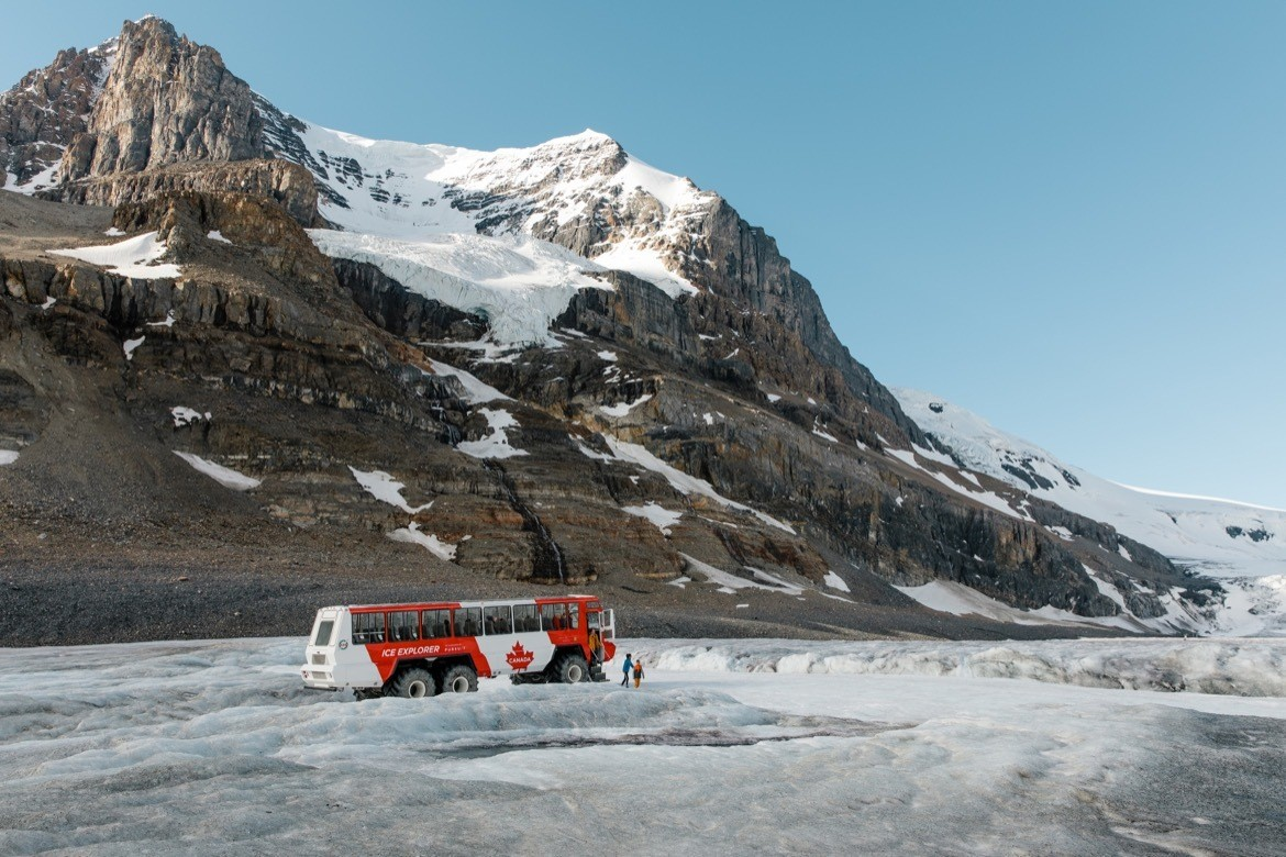 The Columbia Icefields in Alberta, Canada