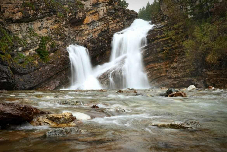 Cameron Falls in Waterton