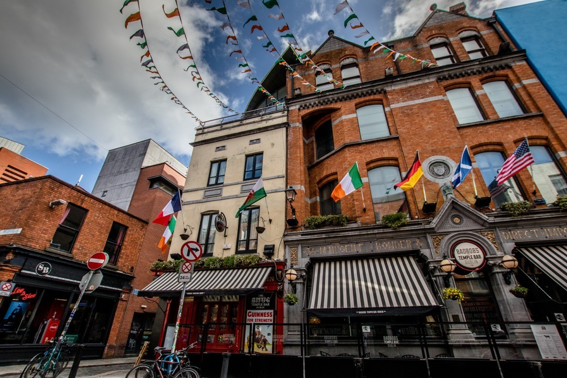 The Temple Bar district in Dublin