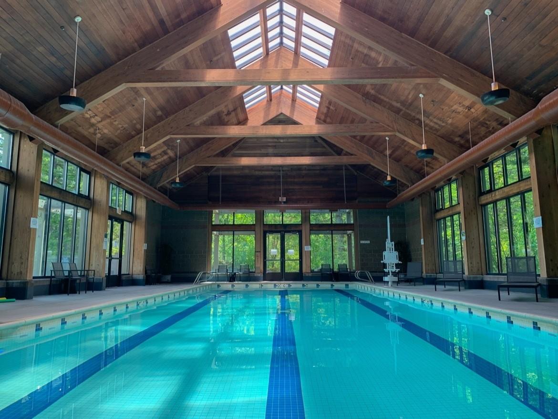 The pool at Skamania Lodge in Stevenson WA